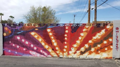 Street Murals by Jerry Misko seen at 1120 E Charleston Blvd, Las Vegas - Outdoor Mural