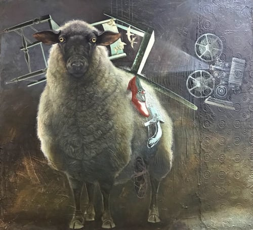 Paintings by O.M. Norling seen at Vine Vault Atlanta, Atlanta - STUMBLING UPON A COLLECTION OF MISPLACED WHAT-IFS
