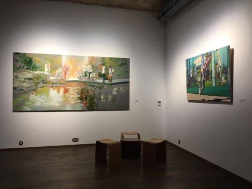Paintings by Zsombor Barakonyi seen at Creator's Studio, Budapest - Garden of Joy