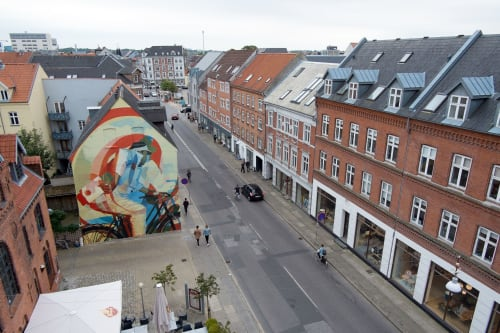 Murals by RATUR (Arthur Maslard) seen at Private Residence, Aalborg - A Trip In Time