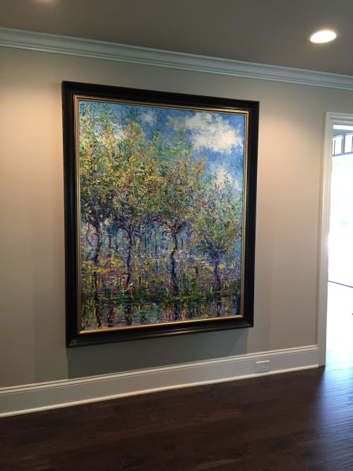 Paintings by Rob Crombie seen at Private Residence, Hudson - Reflections - SOLD