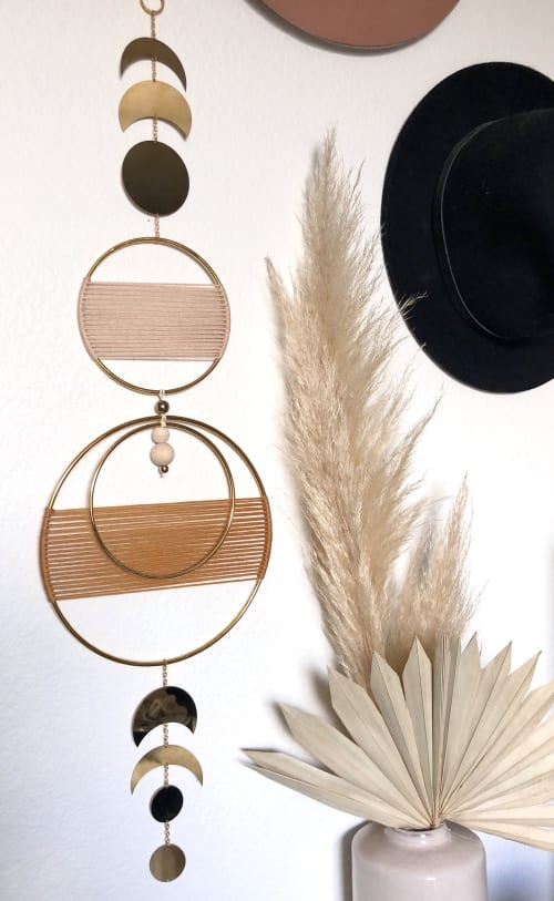 Macrame Wall Hanging by Knots to Mention seen at Private Residence, Ventura - Moon Phase Wall Hanging