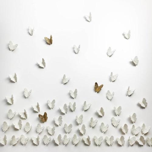 Art & Wall Decor by Elizabeth Prince Ceramics seen at Creator's Studio, Manchester - Extra Large Artwork 3D painting 120 Porcelain Butterflies