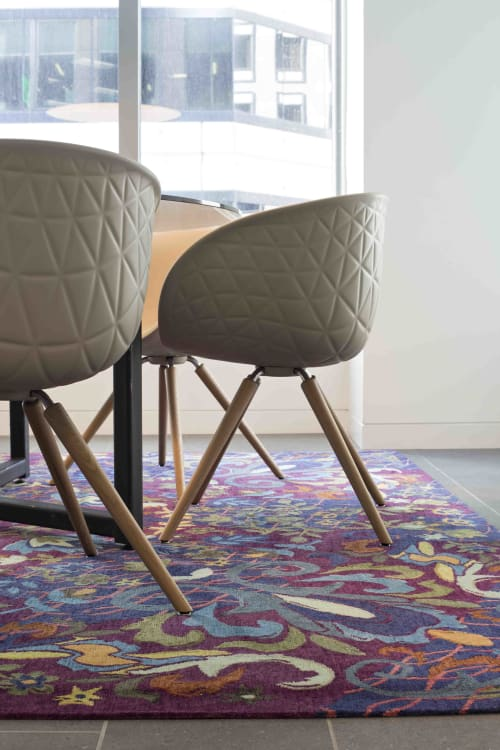 "Rugs by Emma Gardner Design, LLC seen at KPMG, San Francisco - Custom ""edgy Victorian"""