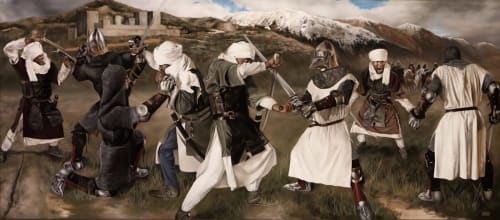 Paintings by Shawn Michael Warren seen at NOMAD Gallery by Richard App, Grand Rapids - The Siege of Granada