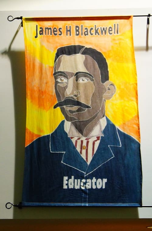 Art & Wall Decor by Kevin Orlosky seen at Blackwell Elementary School, Richmond - African American Pioneers from Richmond