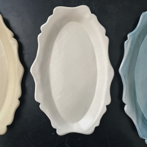 Ceramic Plates by Monsoon Pottery seen at Private Residence - West Town, Chicago, Chicago - High Priestess Platter