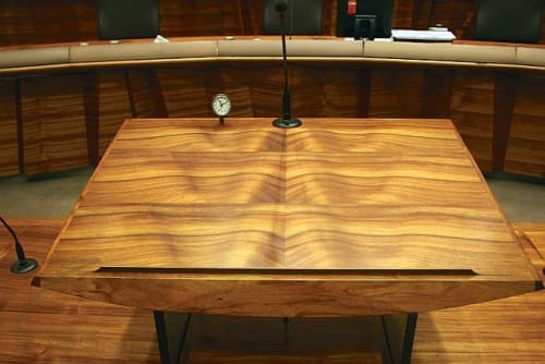 Furniture by Zabo Design seen at Federal Court of Australia, Sydney - Handcrafted bespoke furniture