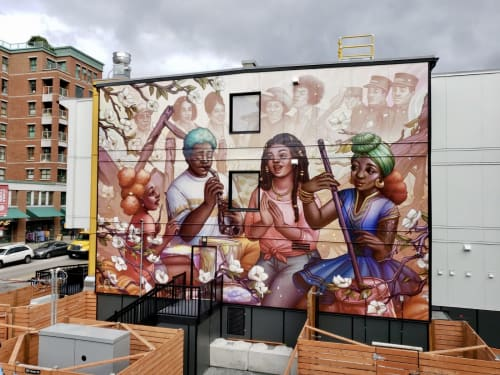 Street Murals by Ejiwa Ebenebe seen at 258 Union St, Vancouver - Remember Hogan's Alley