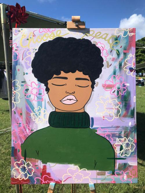Paintings by Peace Peep Designs seen at Creator's Studio - Custom Portrait on Canvas