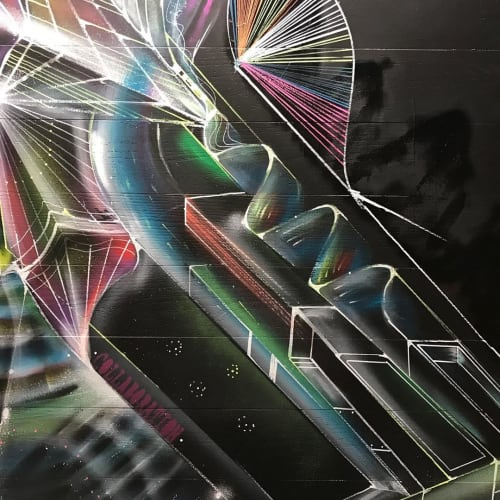 Murals by Max Ehrman (Eon75) seen at Private Residence, San Francisco - Wall Mural