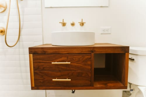 Furniture by Andrew Myers seen at Desert Inspired Home in the South, Little Rock - Bathroom Vanity