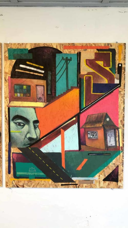 "Paintings by Skore999 seen at Bogota, Bogotá - ""La inmortalidad"""