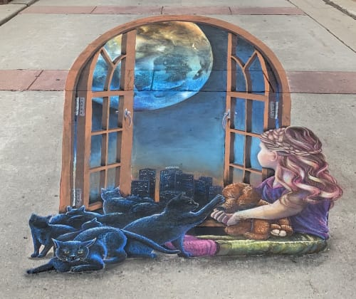 Street Murals by Rogers Create seen at Milwaukee, WI, Milwaukee - Milwaukee street mural