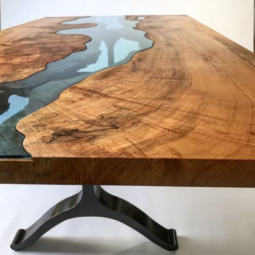 Furniture by Woodbee Woodworks seen at Private Residence, Macon - River Table