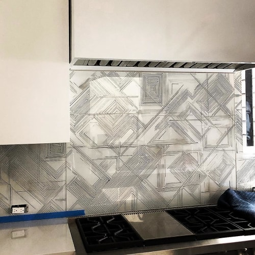 Art & Wall Decor by Caroline Lizarraga seen at Private Residence, San Francisco - Custom Glass Back-splash