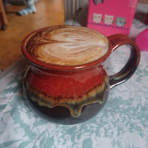 Tableware by JMPottery seen at Private Residence, Newcastle - Red mug