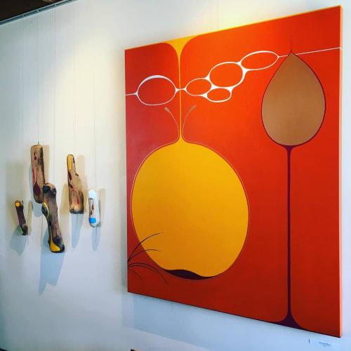 Paintings by Cathy Liu seen at Matarozzi & Pelsinger Builders, San Francisco - DropofSun