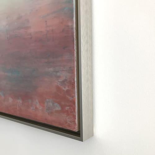 Paintings by Linda Cordner seen at Studio in Boston, MA, Boston - Blush Sky Encaustic Painting