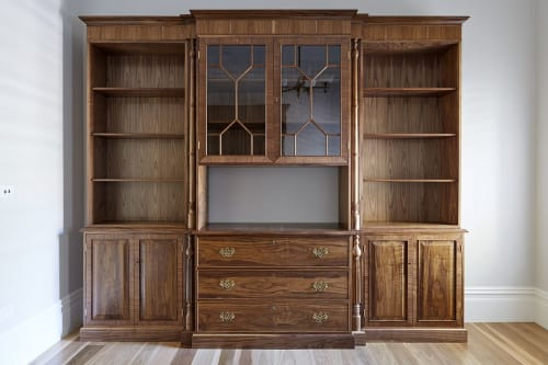 Furniture by Simeon Dux seen at Private Residence, Melbourne - Breakfront bookcase