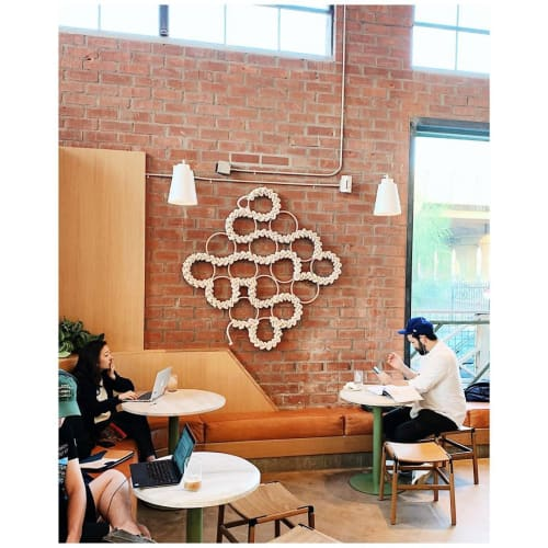 Sculptures by Windy Chien seen at Verve Coffee Roasters, Los Angeles - Diamond Ring