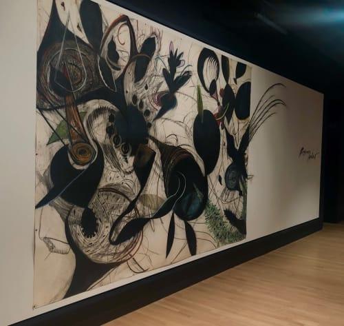 Paintings by Pinkney Herbert seen at Crosstown Arts, Memphis - Black and White