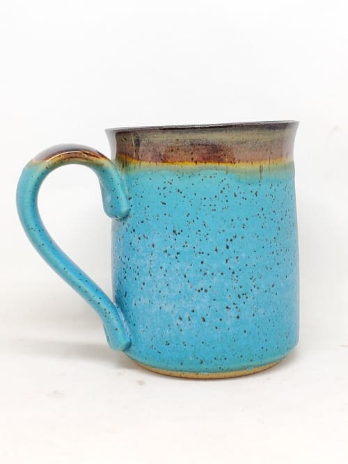Cups by Penny Lane Pottery seen at Private Residence, Prince Albert - Turquoise coffee mug