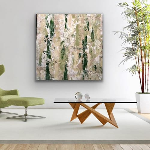 Paintings by Stephanie Bostock seen at Private Residence, Raleigh - Malachite
