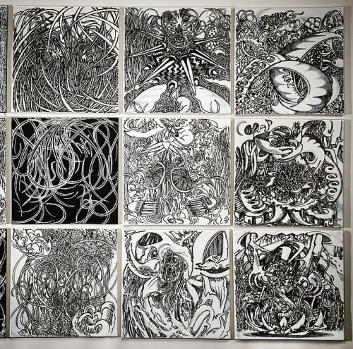 Tiles by Paul Santoleri seen at Pennsylvania Convention Center, Philadelphia - BRAMBLE