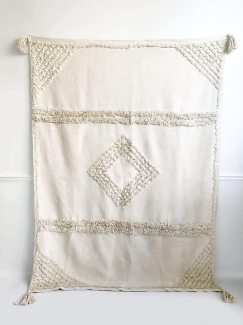 Natural Cove Handwoven Throw Blanket | Linens & Bedding by Coastal Boho Studio