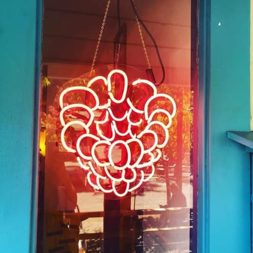 Art & Wall Decor by Town Neon LLC (Anika Rivers) seen at Neon Raspberry Art House, Occidental - Raspberry Logo