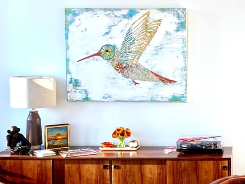 Paintings by L Rowland Contemporary Art seen at Private Residence, Atlanta - Brilliant Liaison- sold, inquire about a similar work of art