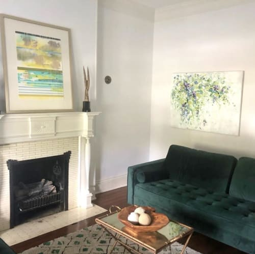 Paintings by Michele Kishita seen at Private Residence, Norfolk - Summer Pond
