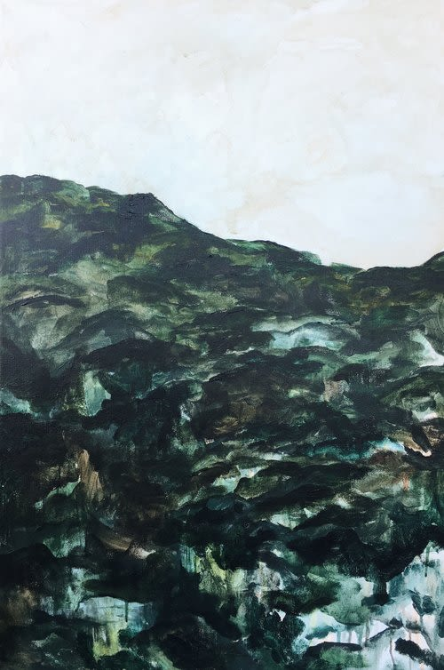 """Paintings by Emily Tingey seen at Private Residence, Los Angeles - """"Huron"""""""