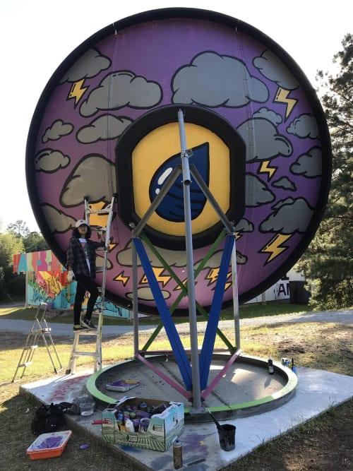 Street Murals by Sarahlaine Calva seen at Arts Annex, Durham - Duke University Satellite