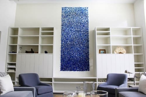 "Art & Wall Decor by Carson Fox Studio seen at Private Residence, New York - ""Blue Flower"""