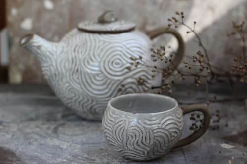 Cups by Mikaela Puranen seen at Private Residence, Stockholm - Tea set