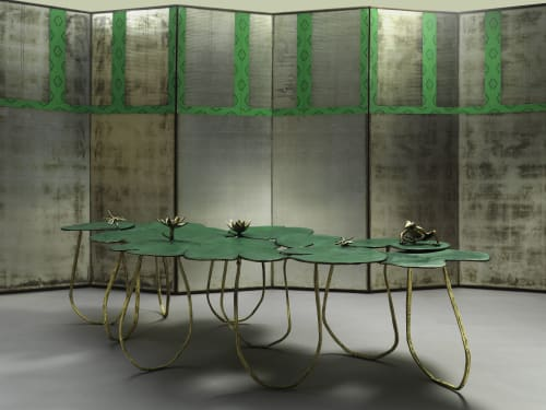Tables by PAULA SWINNEN seen at Private Residence, Brussels - Nenuphar Table