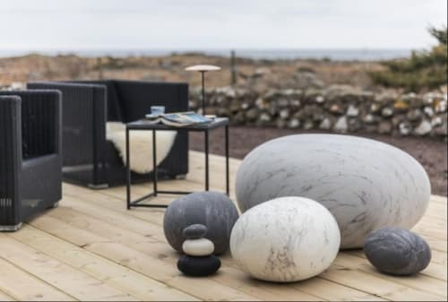 Benches & Ottomans by Ronel Jordaan seen at Private Residence, Stockholm - Pebble Pouf