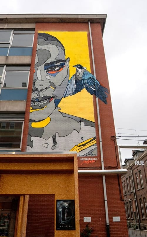 Murals by NovaDead seen at Brussels, Brussels - UNIVERSAL EUROPE