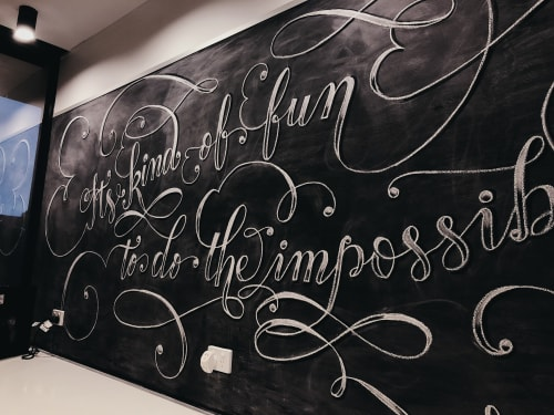 Murals by Yasinta S seen at The Platform, Perth - Impossible Chalk Lettering