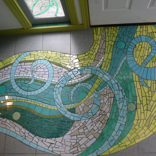 Art & Wall Decor by JK Mosaic, LLC seen at Private Residence - Entryway