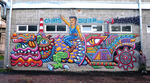 Street Murals by Chris Dyer seen at Street Art Museum, Saint Petersburg, Sankt-Peterburg - Russian Madness