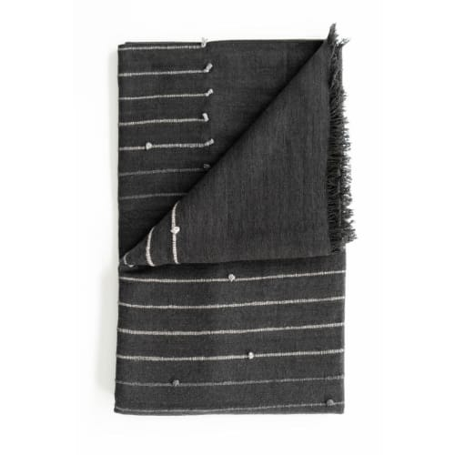 Alei Handloom throw   Linens & Bedding by Studio Variously