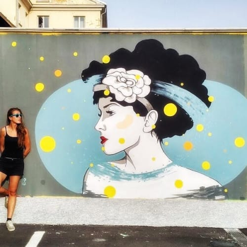 Murals by Stefania Gallina - MAPU Lab seen at Turin, Turin - Curly Hair - Personal Mural