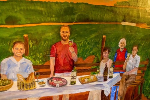 Murals by Virginia Warwick seen at Turning Point Real Estate, Frederick - Seymour Family in Portugal