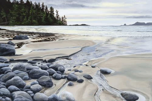 Paintings by Kelly Corbett seen at PARKSVILLE, Parksville - Painting inspired by Florencia Bay in Ucluelet BC