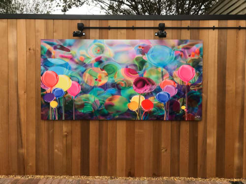 Paintings by Deni Lillian Art seen at Wexham Park Hospital, Slough - Forever Spring