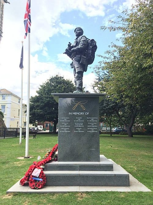 Public Sculptures by Rebecca Hawkins seen at Folkestone Garden of Remembrance, Folkestone - The Gurkha Memorial