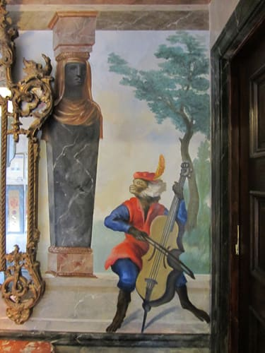 Murals by Jose Agustin Andreu seen at Private Residence Lobby, Chicago - Charles Huet Chinoiserie addition to mural